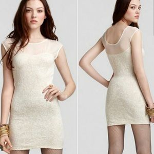 Free people antique floral lace starlight bodycon